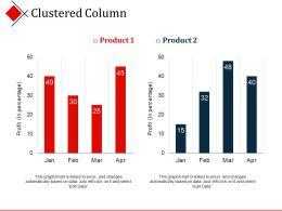 Clustered Column Powerpoint Slides Design