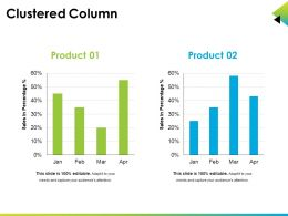 Clustered Column Ppt Example Professional