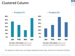 Clustered Column Ppt File Graphics