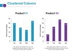 Clustered Column Ppt Layouts Display