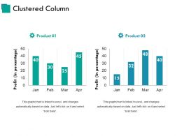 Clustered Column Ppt Sample Presentations