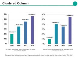 Clustered Column Ppt Styles Diagrams