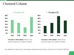Clustered Column Ppt Summary Picture