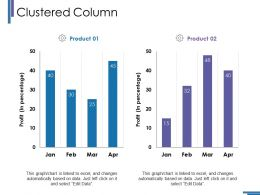 Clustered Column Ppt Summary Show