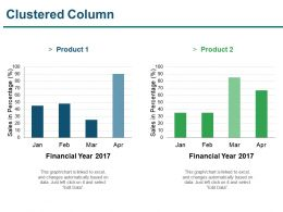 Clustered Column Presentation Layouts