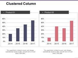 Clustered Column Presentation Visual Aids