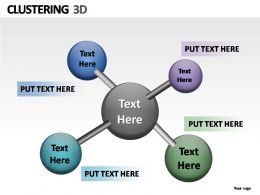 Clustering 3d Powerpoint Presentation Slides