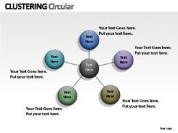 Clustering Circular Powerpoint Presentation Slides
