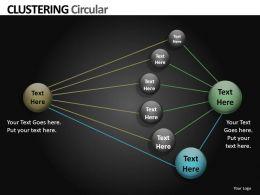 Clustering Circular Powerpoint Presentation Slides db