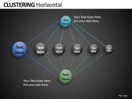 Clustering horizontal Powerpoint Presentation Slides db