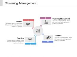 Clustering Management Ppt Powerpoint Presentation Model Themes Cpb
