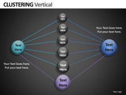 Clustering Vertical Powerpoint Presentation Slides db