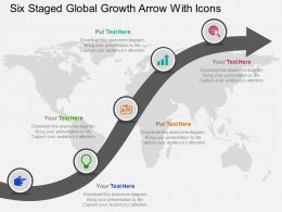 Cm Five Staged Global Growth Arrow With Icons Flat Powerpoint Design