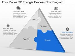Cm Four Pieces 3d Triangle Process Flow Diagram Powerpoint Template