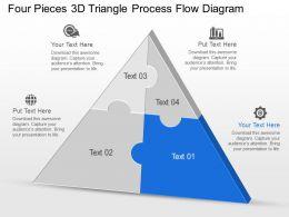 Cm Four Pieces 3d Triangle Process Flow Diagram Powerpoint Template