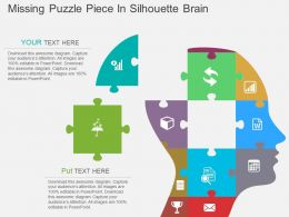 Cm Missing Puzzle Brain Design With Icons Flat Powerpoint Design