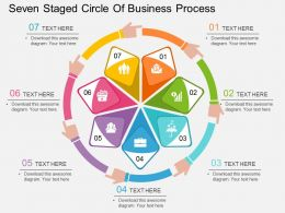 cm Seven Staged Circle Of Business Process Flat Powerpoint Design