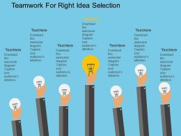cm_teamwork_for_right_idea_selection_flat_powerpoint_design_Slide01