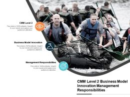 Cmm Level 2 Business Model Innovation Management Responsibilities Cpb