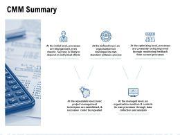 CMM Summary Management Ppt Powerpoint Presentation Icon