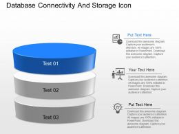 cn Database Connectivity And Storage Icons Powerpoint Template