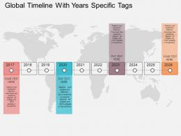Cn Global Timeline With Year Specific Tags Flat Powerpoint Design