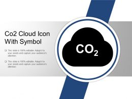 Co2 Cloud Icon With Symbol