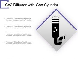 Co2 Diffuser With Gas Cylinder