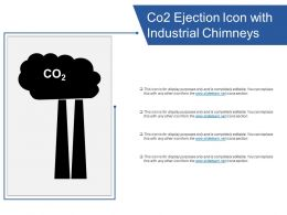Co2 Ejection Icon With Industrial Chimneys