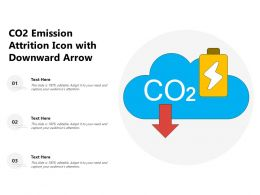 CO2 Emission Attrition Icon With Downward Arrow