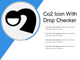 Co2 Icon With Drop Checker