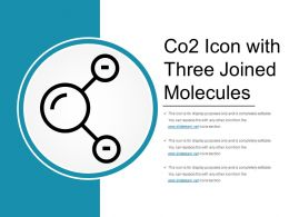 Co2 Icon With Three Joined Molecules