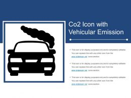 Co2 Icon With Vehicular Emission