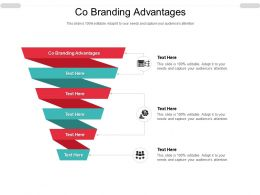 Co Branding Advantages Ppt Powerpoint Presentation Outline Clipart Cpb