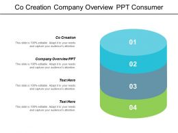 Co Creation Company Overview Ppt Consumer Review Core Marketing Cpb