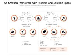 Co Creation Framework With Problem And Solution Space
