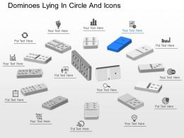 co Dominoes Lying In Circle And Icons Powerpoint Template