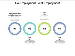 Co Employment Joint Employment Ppt Powerpoint Presentation Show Display Cpb
