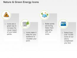 Co Four Text Icons With Power Generation Symbols Ppt Icons Graphics