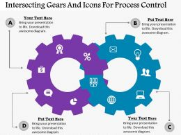 Co Intersecting Gears And Icons For Process Control Powerpoint Template