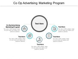 Co Op Advertising Marketing Program Ppt Powerpoint Presentation Ideas Templates Cpb