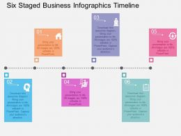 Co Six Staged Business Infographics Timeline Flat Powerpoint Design