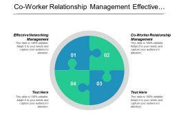 Co Worker Relationship Management Effective Networking Management Career Management Cpb