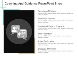 Coaching And Guidance Powerpoint Show