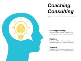 Coaching Consulting Ppt Powerpoint Presentation Slides Good Cpb