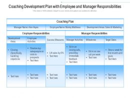Coaching Development Plan With Employee And Manager Responsibilities