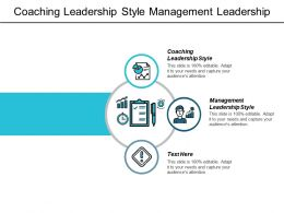 Coaching Leadership Style Management Leadership Style Management Culture Cpb