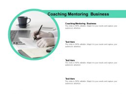 Coaching Mentoring Business Ppt Powerpoint Presentation Styles Slide Cpb