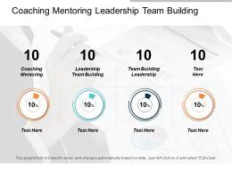 Coaching Mentoring Leadership Team Building Team Building Leadership Cpb