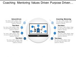 Coaching Mentoring Values Driven Purpose Driven Great Company